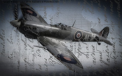 aviation, airplane, propeller driven aircraft, wing, vehicle, supermarine spitfire, fighter aircraft,