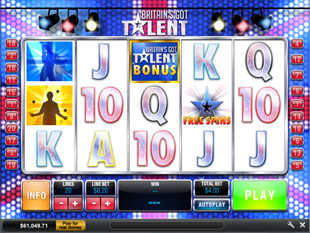 Britain's Got Talent slot game online review