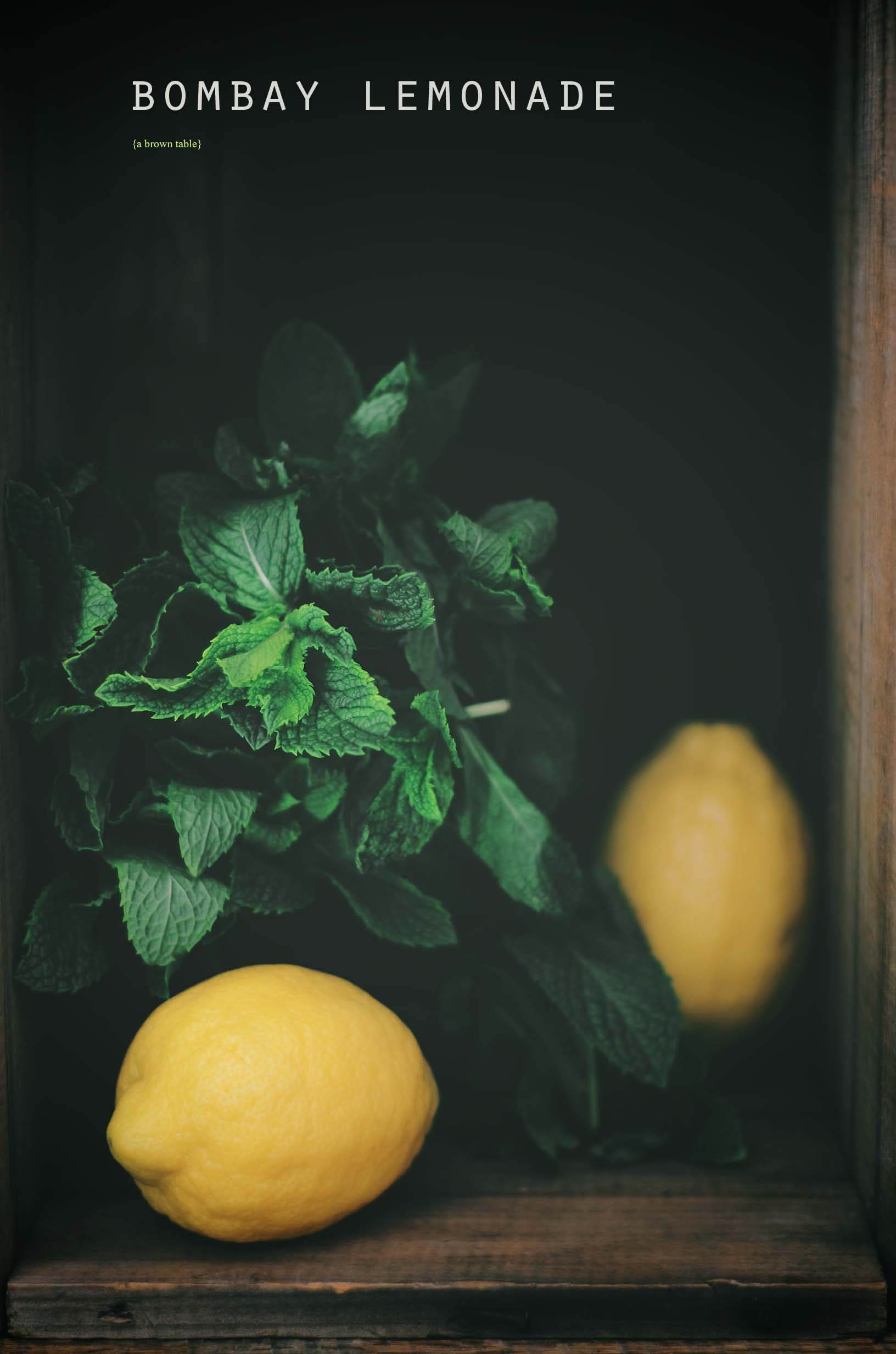 mint and lemons