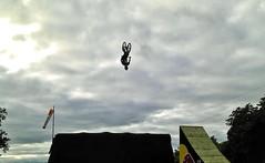 BMX Big jump contest at Uppsala castle