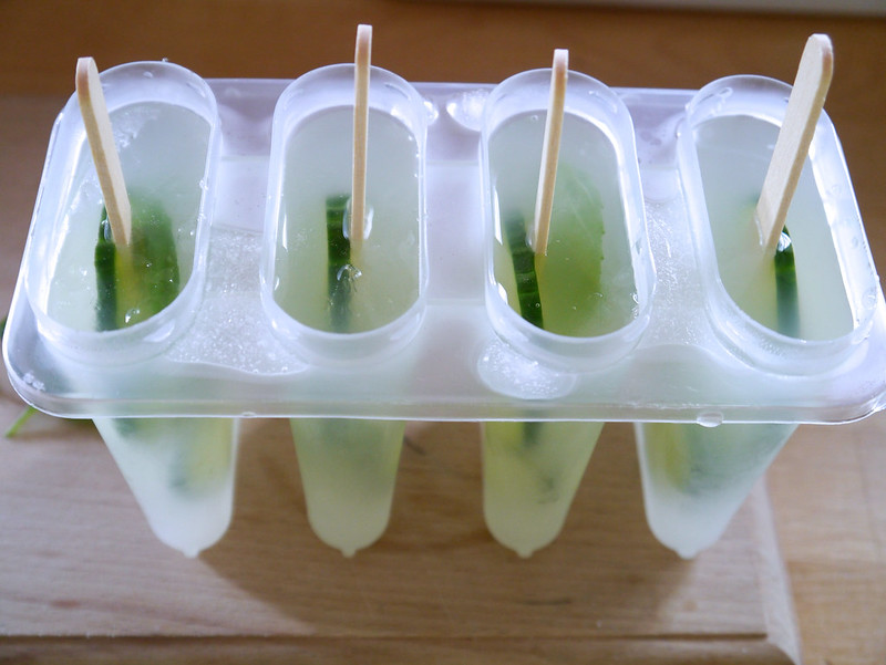 basil, cucumber, food blog, foodie, gormet ice lollies, how to make ice lollies, ice lollies, lemon, lemon basil and cucumber ice lollies, lolly, katecooks,