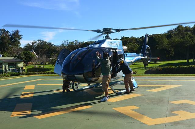 Helicóptero por Iguazú, en Foz de Iguazú