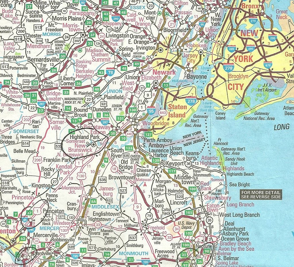 Map of New York - New Jersey Area, 2005 | For locating the c ...