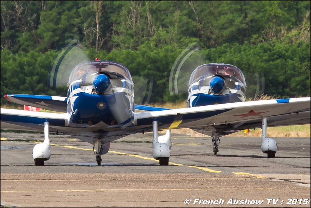 Show patrouille CAPTENS 2015,Fly'in Saint-Yan 2015,Fly in LFBK 2015, Meeting Aerien 2015