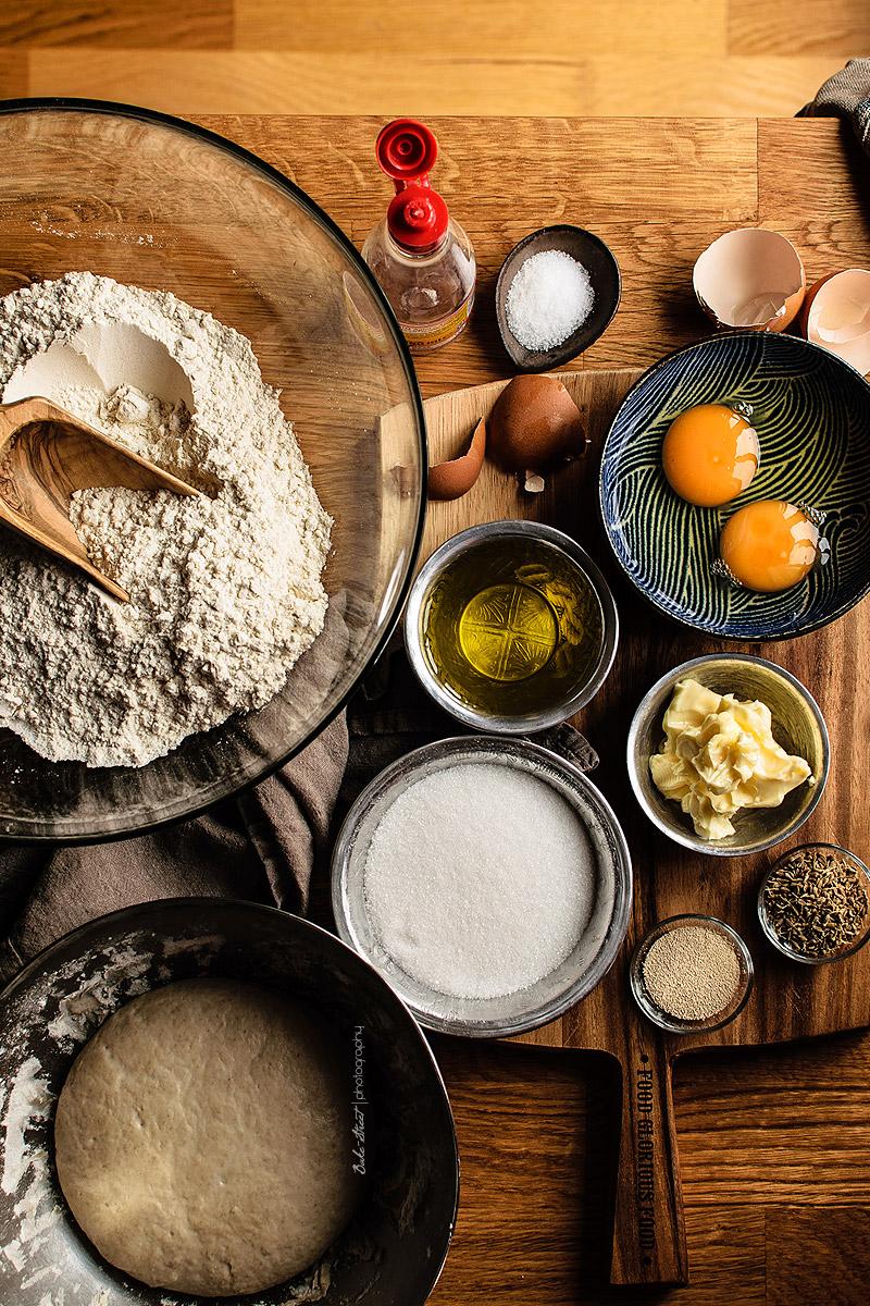 Gibassier, pan de anís y naranja confitada