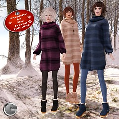 Ghee Frozen Fair Half-Price Exclusive Slouchy Sweater  Dress