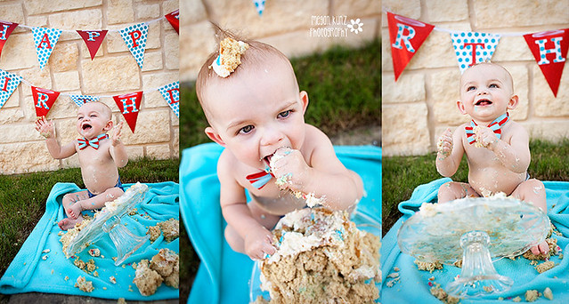 Waco Texas Photographer Megan Kunz Photography J Cake Smash trioblog
