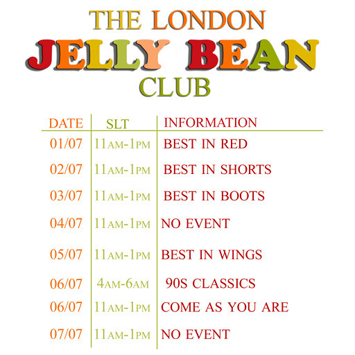 Jelly Bean Schedule 01.07.13
