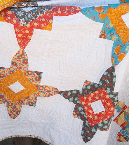 Modern Yardage Quick Curve Ruler Star Block Quilt