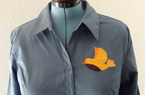 038 - Bird Appliqué Logo Camouflage