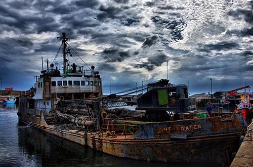Shearwater  Dredger Ship  - Arbroath Harbour - Scottish Coast