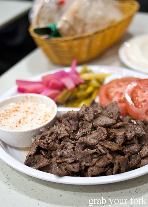 shawarma plate at el jannah lebanese charcoal bbq chicken punchbowl