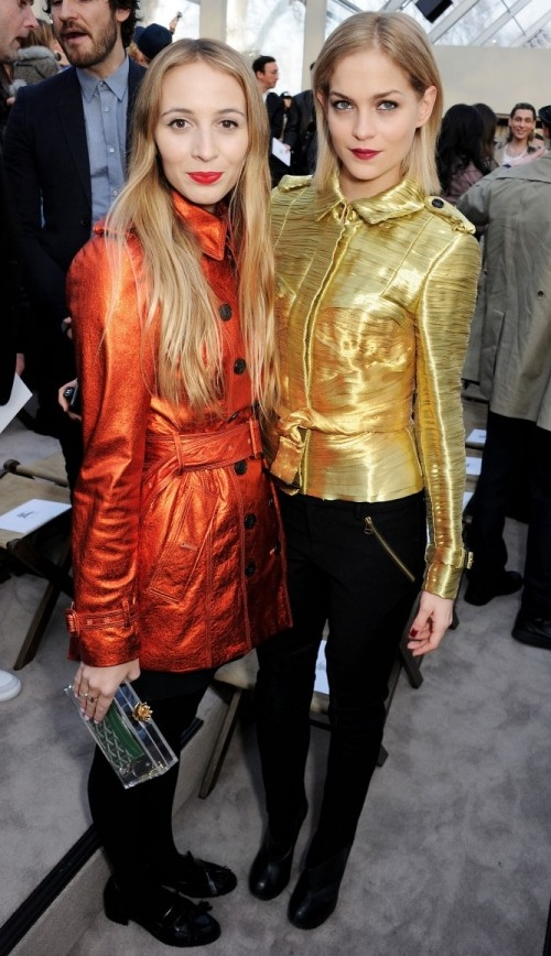7 Harley Viera-Newton and Leigh Lezark wearing Burberry at the Burberry Prorsum Womenswear Autumn Winter 2013 Show