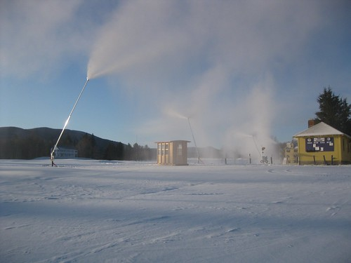 Snowmaking towers at Rikert Nordic Ctr
