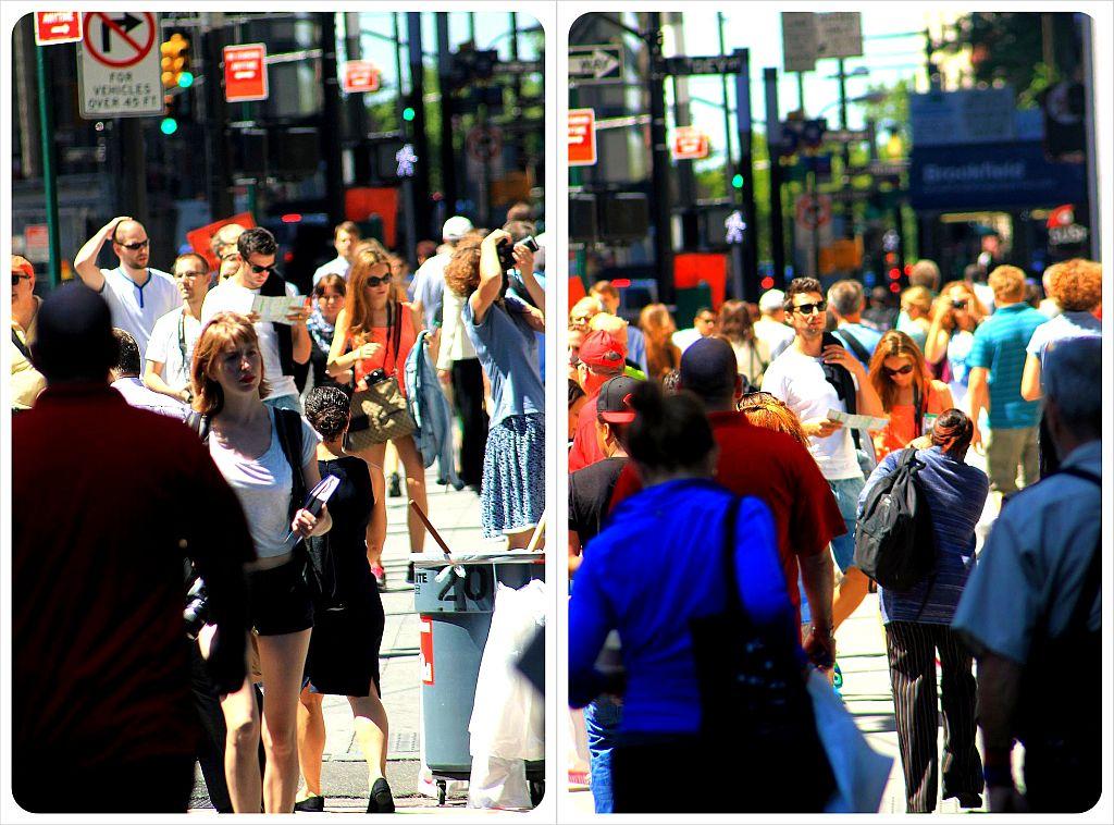 Broadway crowds