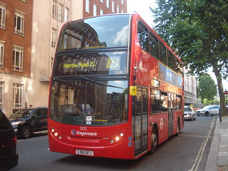 Stagecoach 12132 on Route 205X, Marylebone