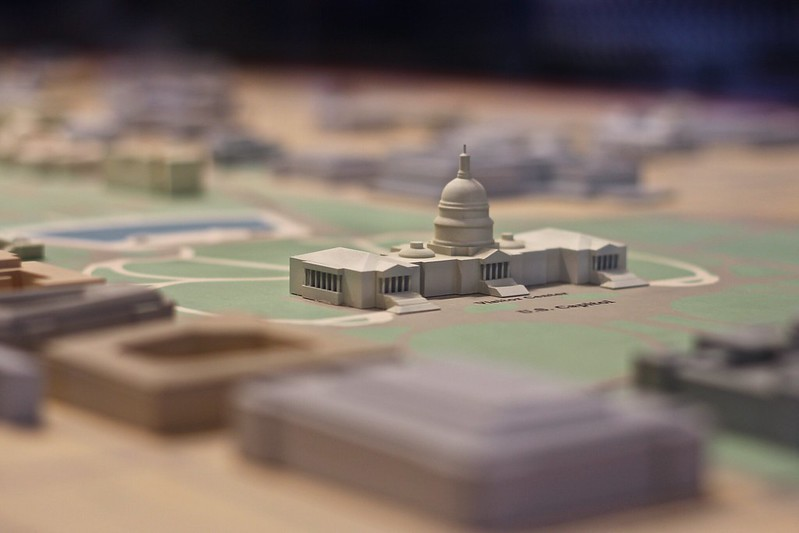 Scale paper model of DC