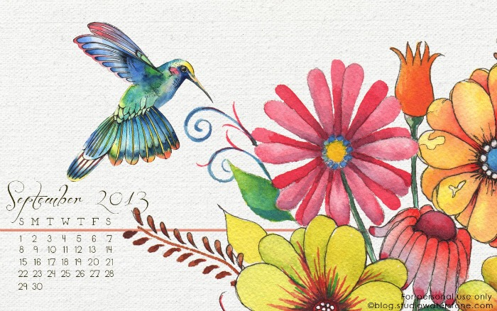 September Wallpaper from Studio Waterstone