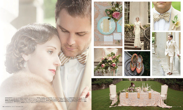 Great Gatsby  Oh Brides Magazine Feature