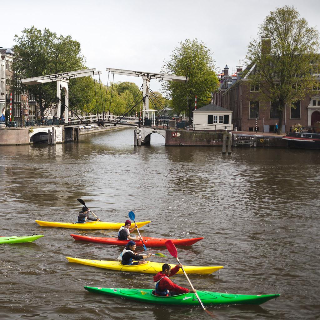Kayaks on a Gracht