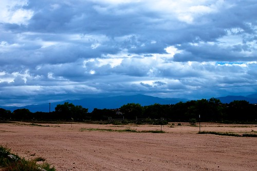 Stormy Skies Over Santa Fe by Geoff Livingston