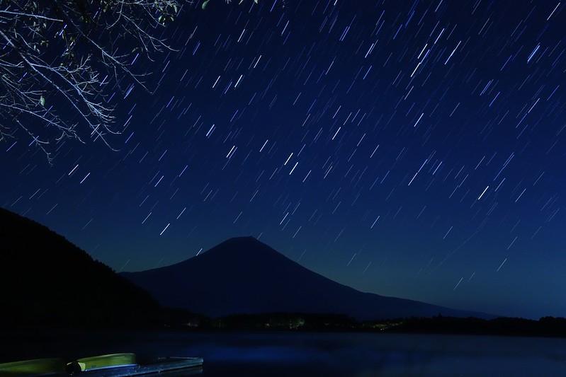 富士山と田貫湖 star trail