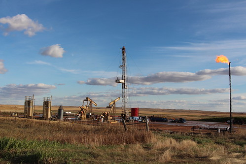 oil well site near Tioga, ND