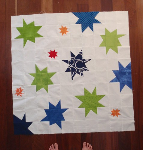 A Star is Born quilt top