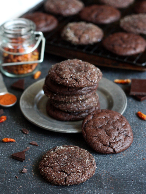Spicy Chili Chocolate Cookies // completelydelicious.com