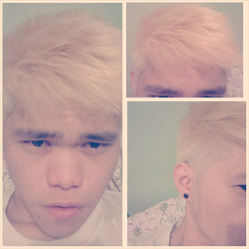 filipino guy bleached hair blog