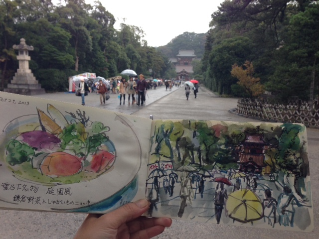 Kamakura sketch: shrine
