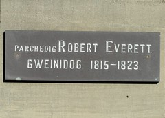 Photo of Robert Everett slate plaque