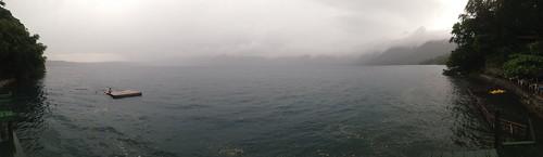 Laguna de Apoyo bajo la lluvia by Marconi Poveda