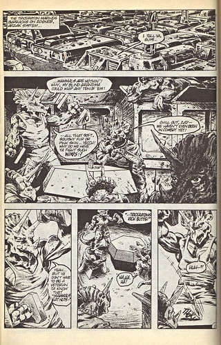 "GRUNTS #1 :: ""THE LESSON"" - A TALE OF THE TRICERATON MARINES pg.1 (( 1987 ))"