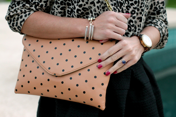 J Crew Polka Dot Invitation Clutch