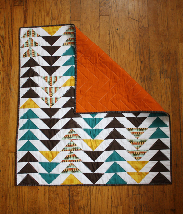 Falling Geese Baby Quilt