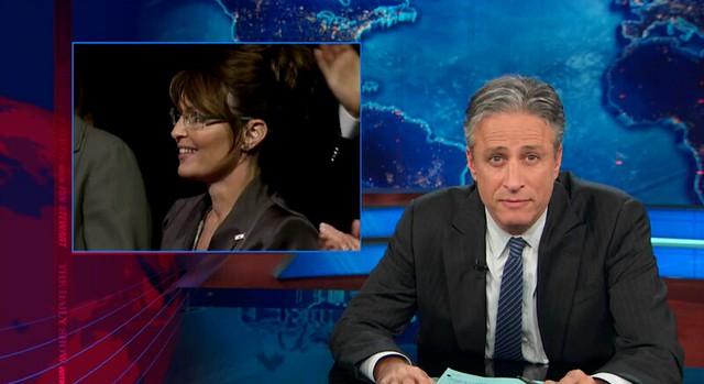 tv still: Jon Stewart / Sarah Palin (2013)