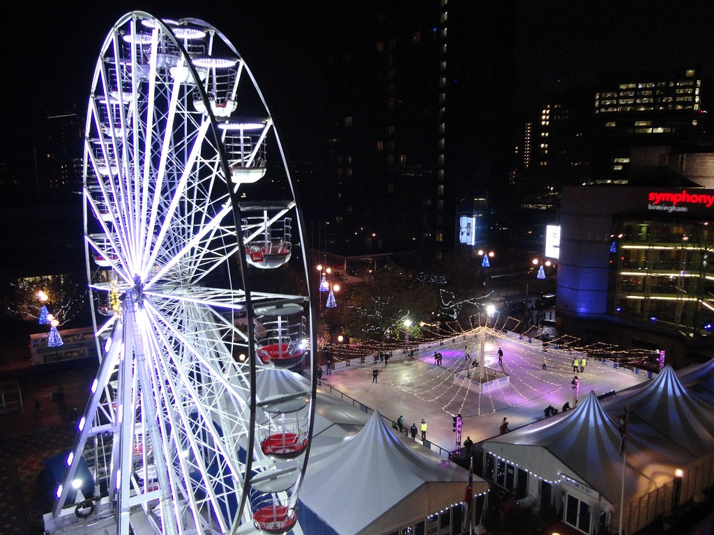 Wheel, ice rink, Symphony Hall