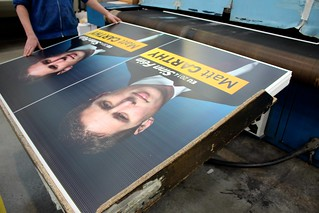 Matt Carthy posters roll off the press
