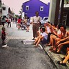 Kid looking at pseudo-kids #ArmenianStreet #penang
