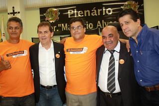 Da esquerda para a direita Prof. Luiz Cabeleireiro, o deputado Paulinho da Força, reverendo Márcio, vereador Firmino Firmeza e David Martins