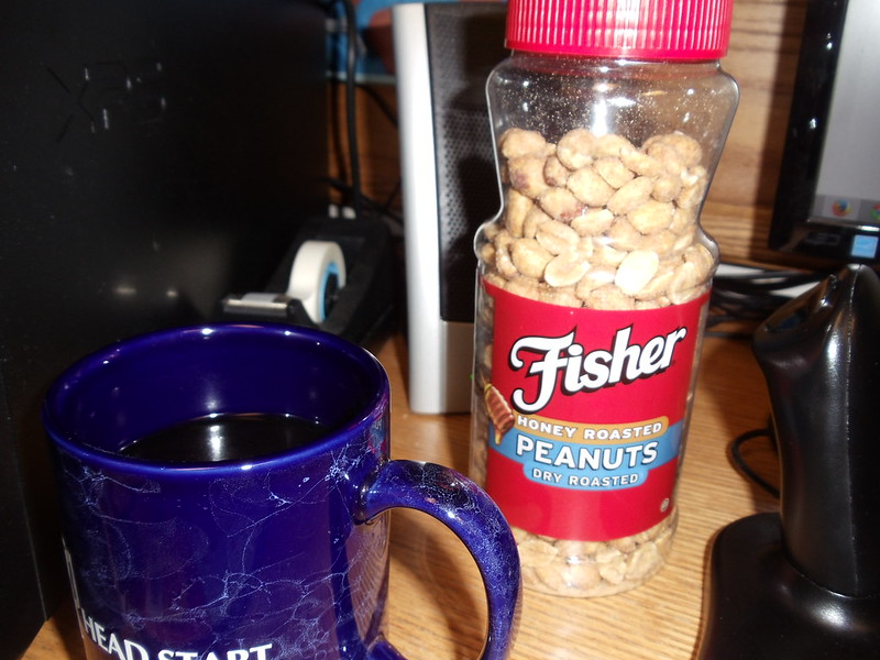 Coffee and peanuts