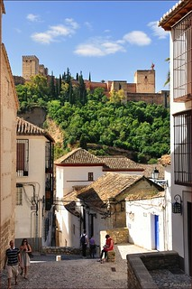 Granada : The Alhambra view from Albayzín  - 2/2
