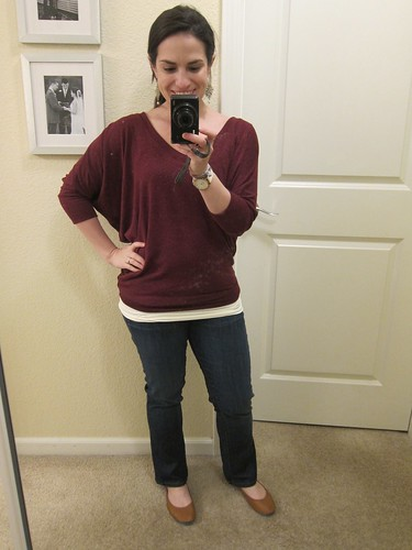 41Hawthorn Aleah Heathered V-Neck Dolman Top