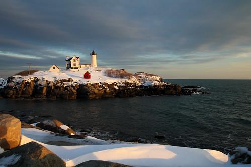 christmas york usa lighthouse day cloudy maine christmaslights nubblelight nubble capeneddick nubblelighthouse capeneddicklight capeneddicklighthouse wbnawneme pwwinter