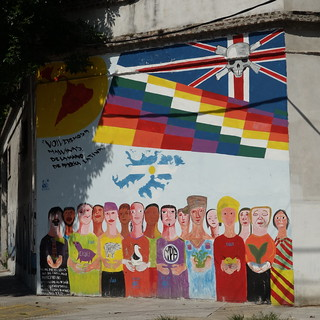 Mural demanding the return of the Falkland Islands, Buenos Aires