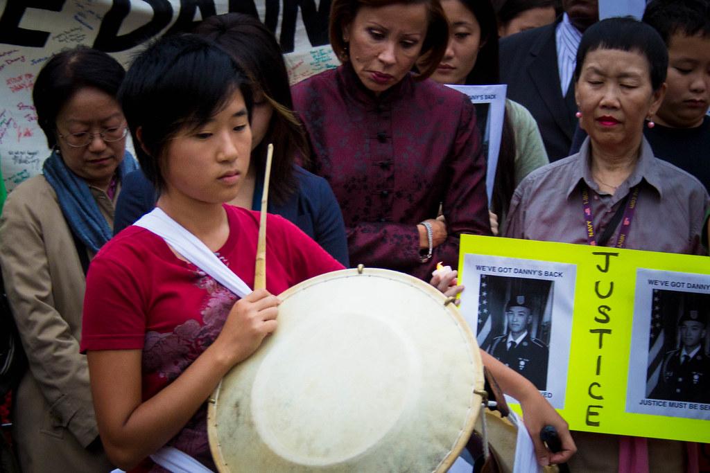 Vigil for Danny Chen at Union Square, NY.