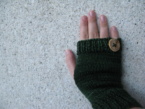 In the Forest - fingerless mittens