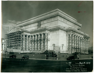 Photograph of the National Archives Building Being Constructed, 09/04/1934
