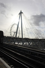 London Eye from Charing Cross station